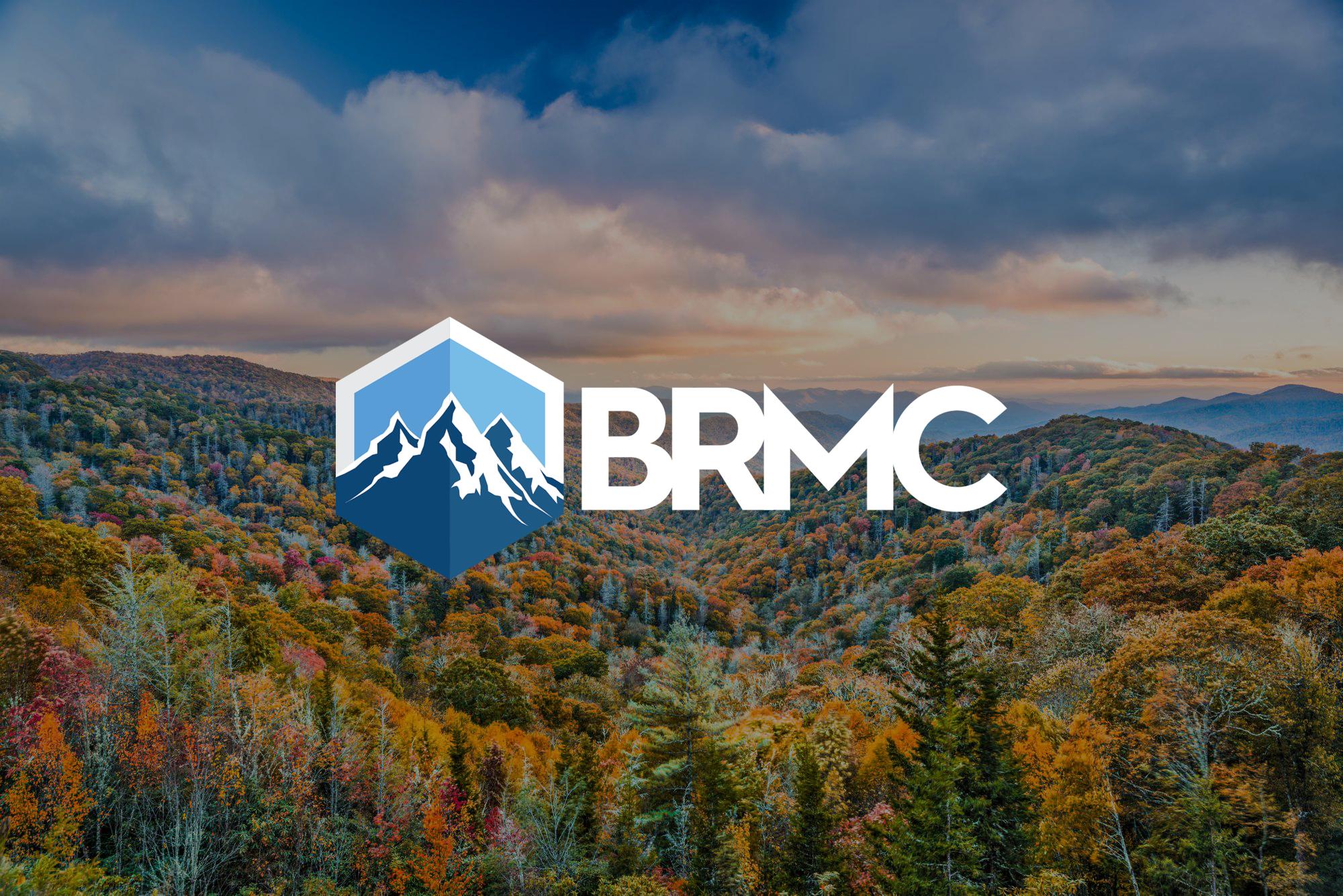 BRMC logo on scenic background