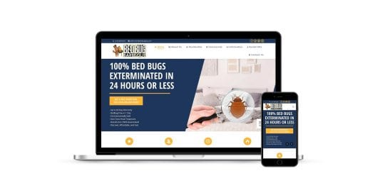 Bedbug BBQ - - home page on multiple screen