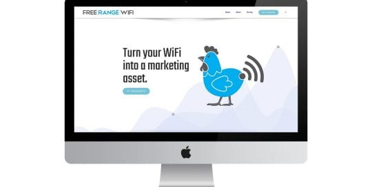Free range wifi - - home page on screen
