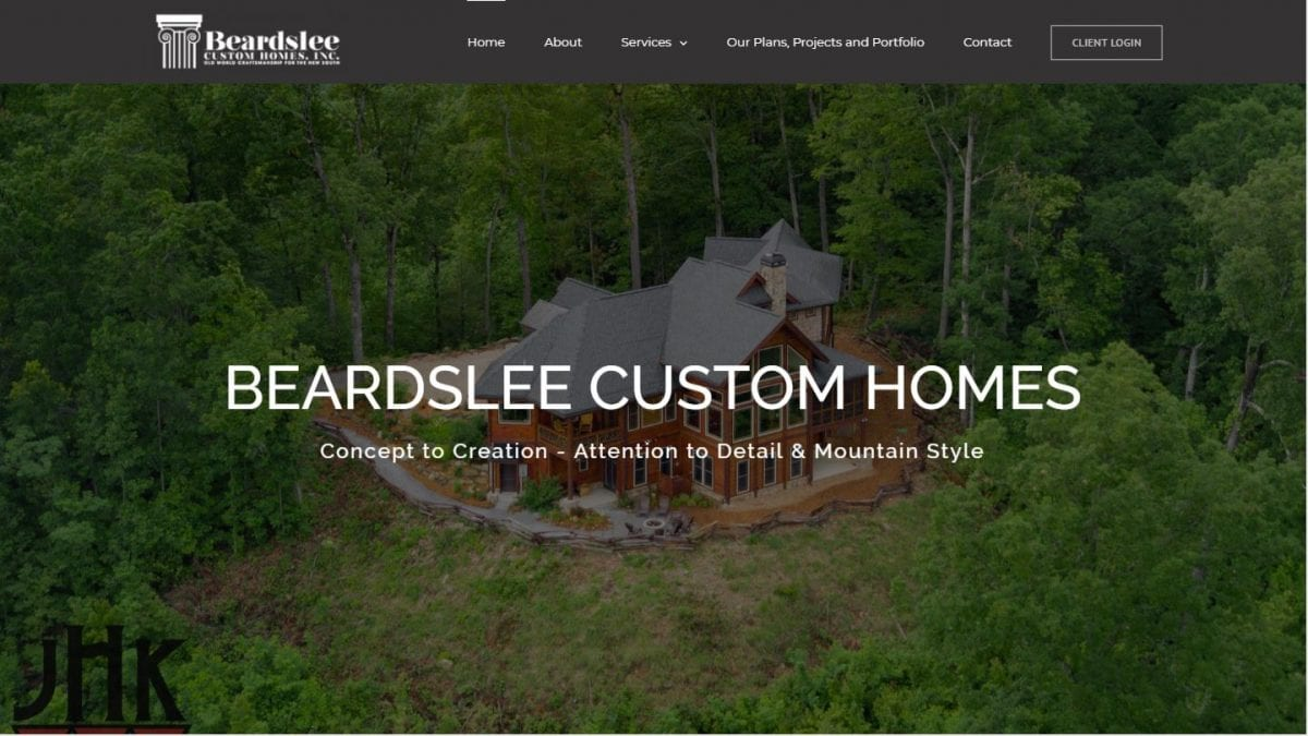 Beardslee Custom Homes of Blue Ridge, GA Website
