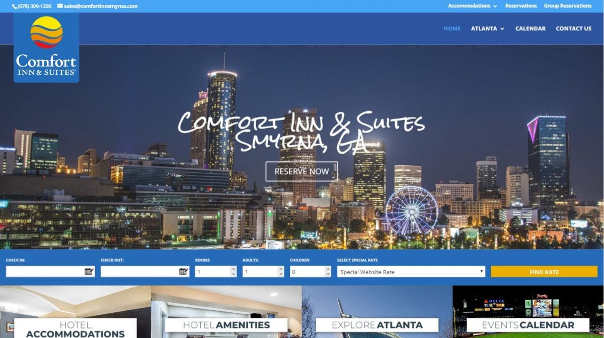 Comfort Inn & Suites of Smyrna, GA Website