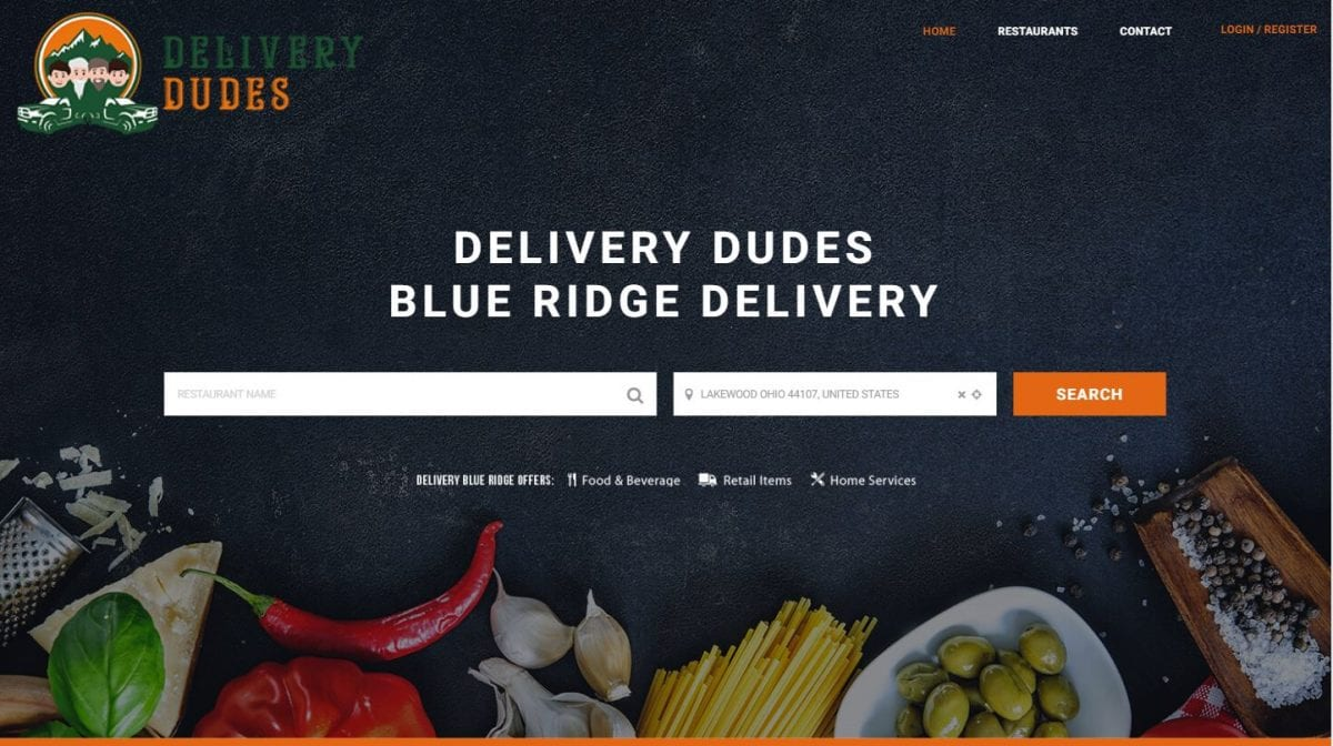 Delivery Dudes, Blue Ridge Delivery Service Website