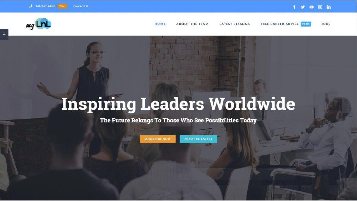My Lessons in Leadership Website