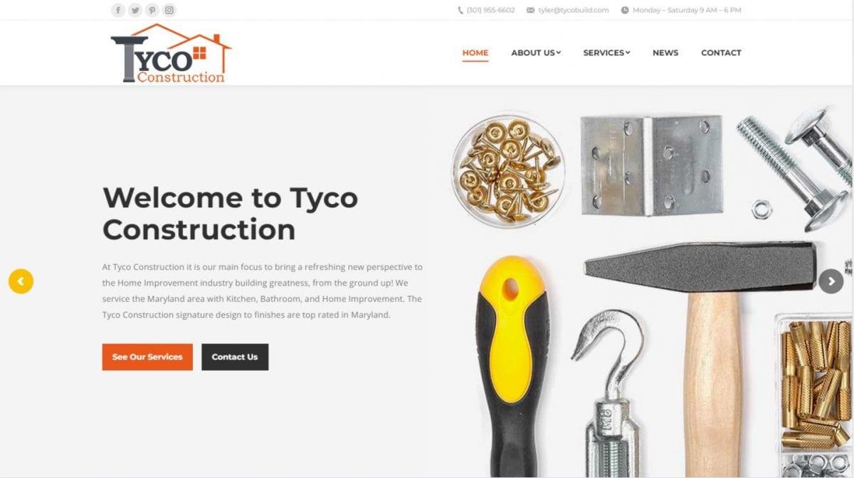 Tyco Construction LLC Website