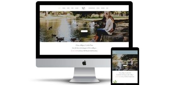 Aldayuz Wedding - home page on multiple screen