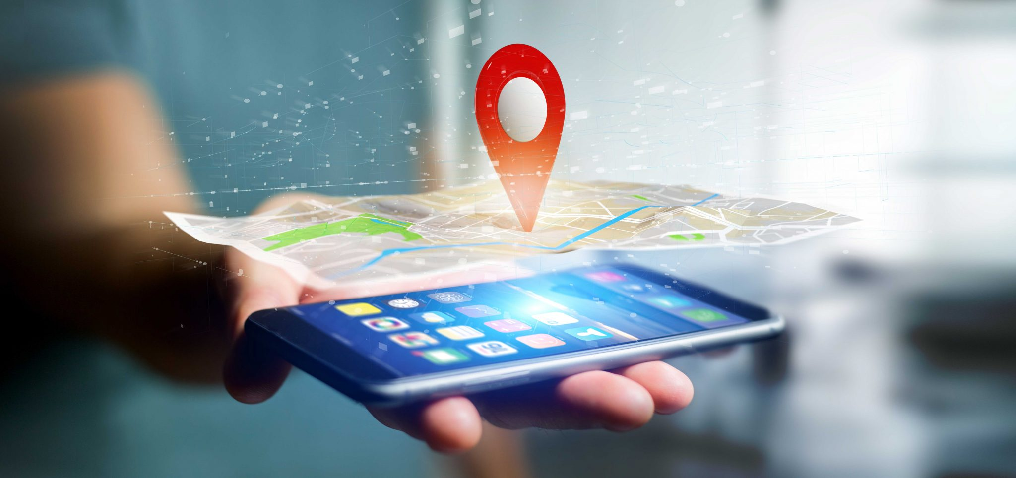 Location marker on map - Geofencing technique