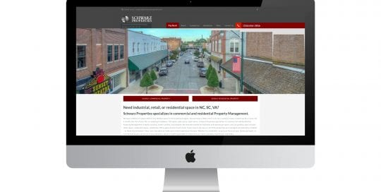 Schwarz - home page on different smart screens