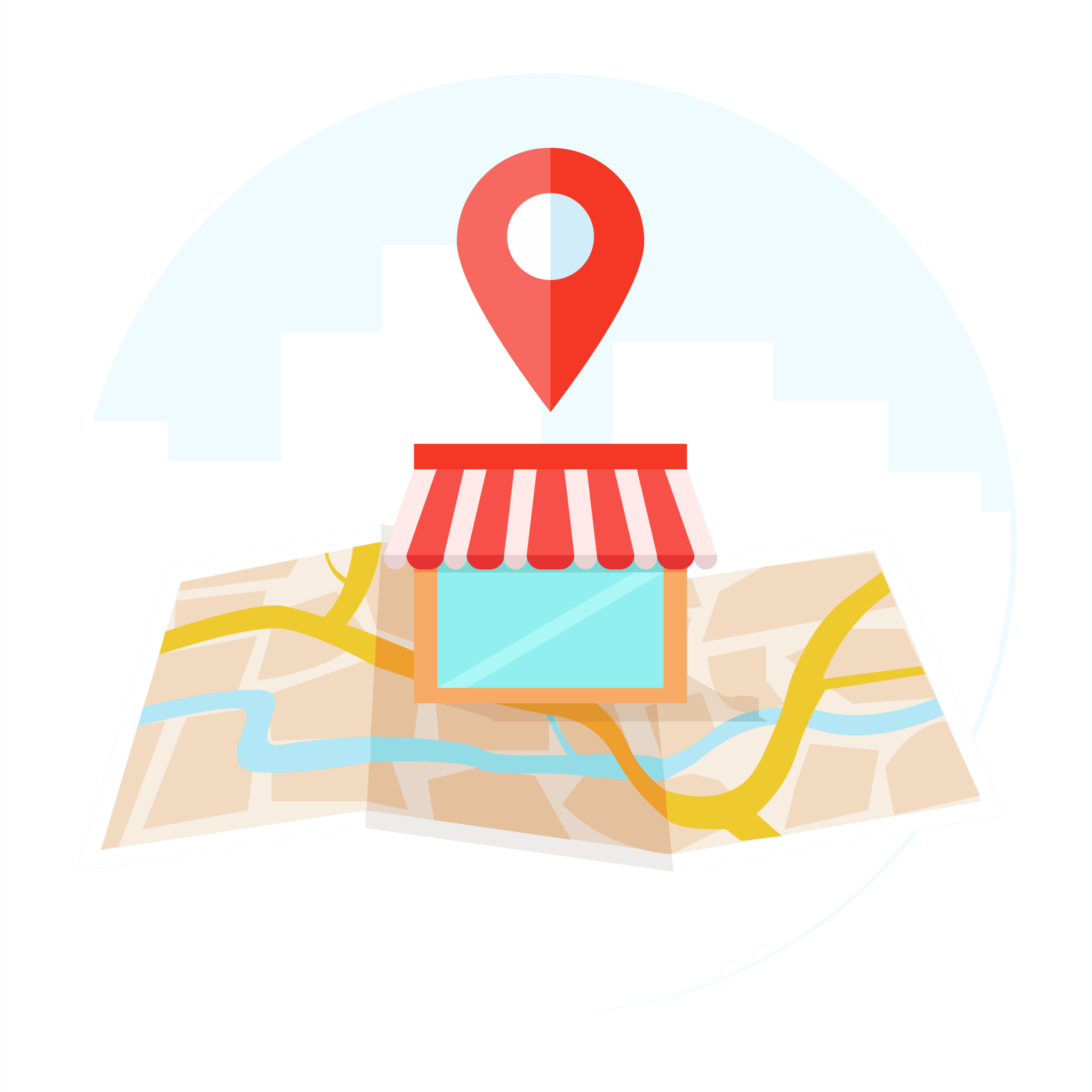 Location indicator on the map icon