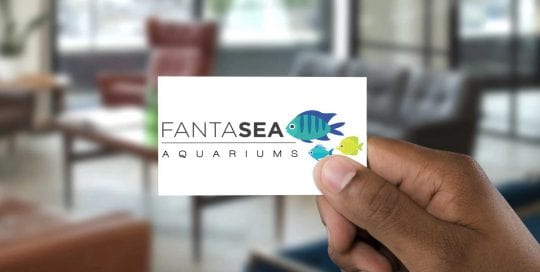 Fantasea-Aquariums logo business card