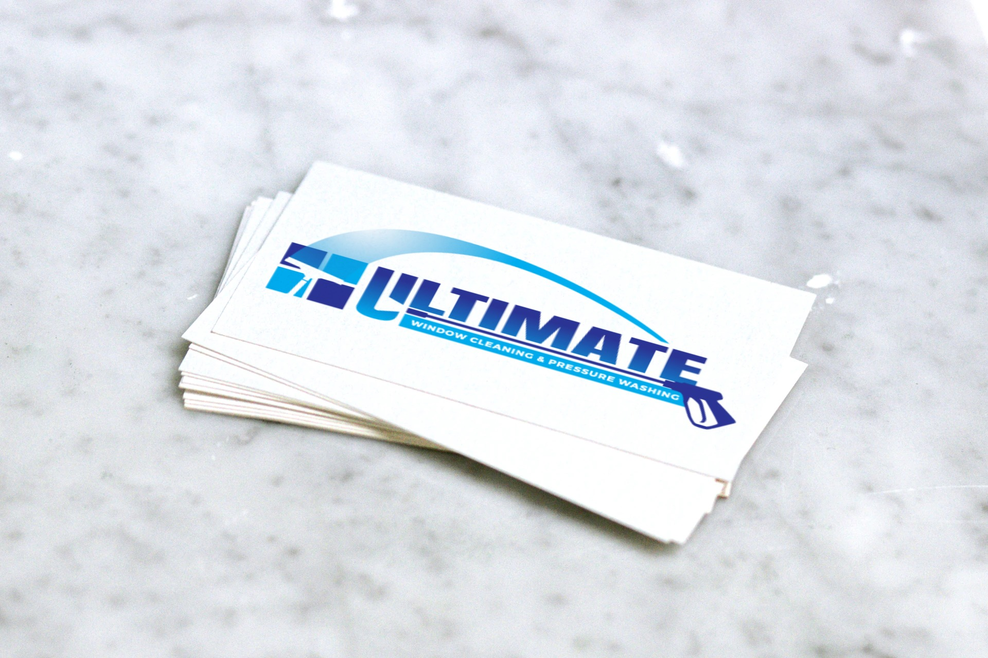 Ultimate Windows logo business cards