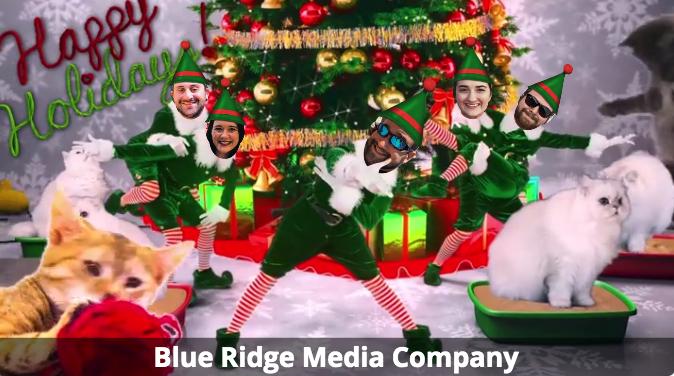 Blue Ridge Media Company team members getting in holiday season for their digital marketing campaign