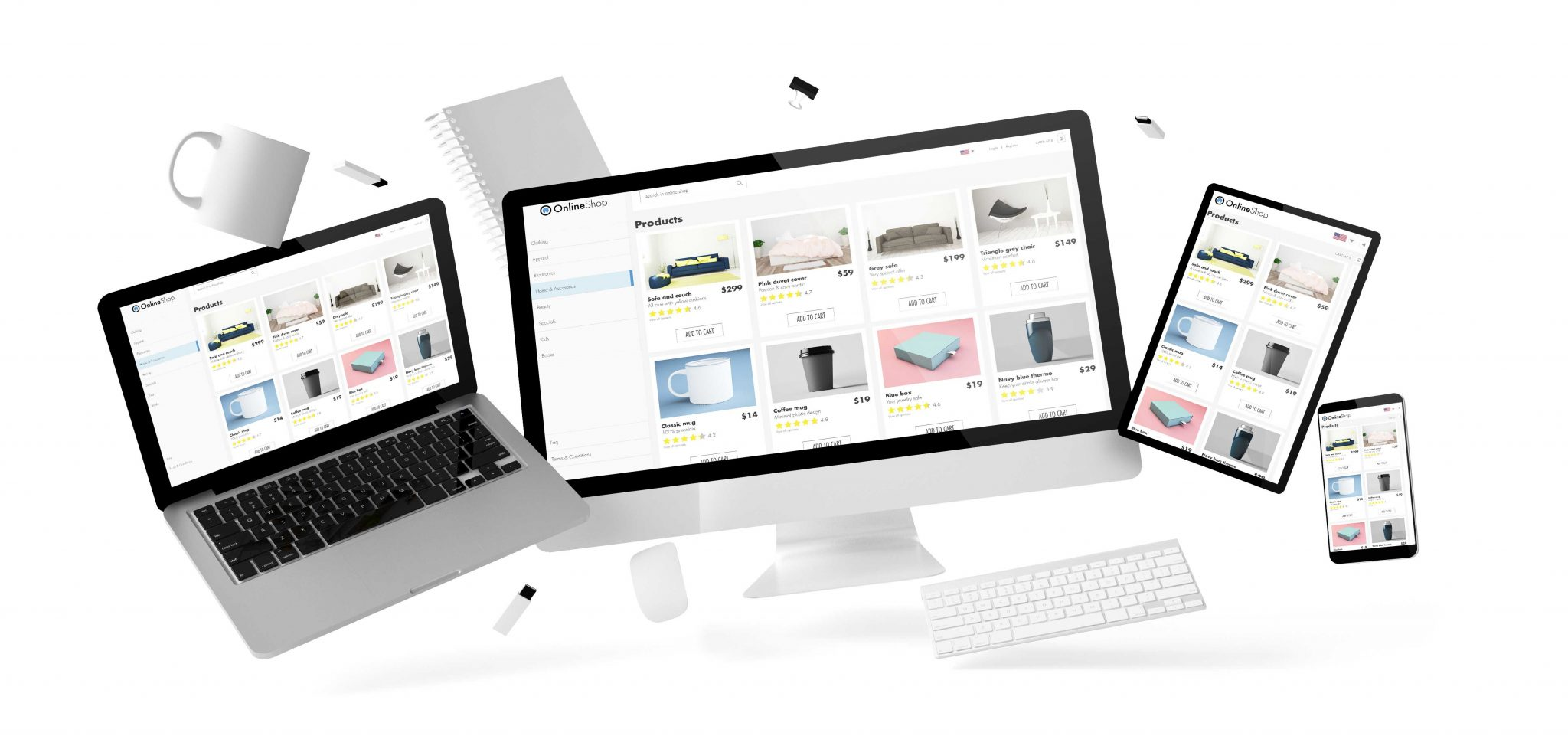 Online WordPress ecommerce store