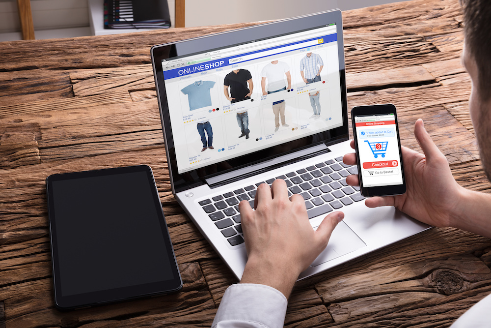 A person shops online, while attribution tracking tracks where they came from.